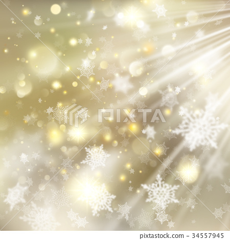 Christmas golden holiday glowing background. EPS 34557945
