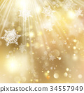 background Christmas golden 34557949