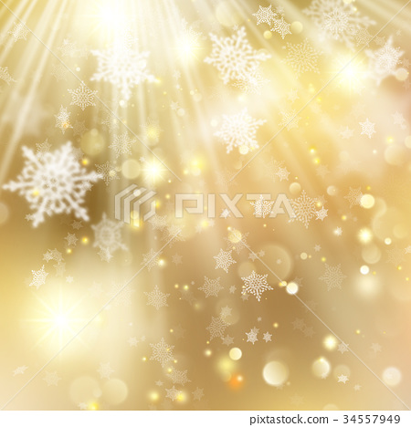 Christmas golden holiday glowing backdrop. EPS 10 34557949