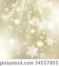 Christmas golden holiday glowing backdrop. EPS 10 34557955