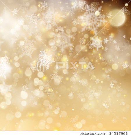 Christmas golden holiday glowing backdrop. EPS 10 34557961