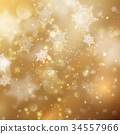 Christmas golden holiday glowing backdrop. EPS 10 34557966