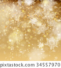 Christmas golden holiday glowing backdrop. EPS 10 34557970