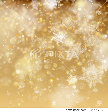 Christmas golden holiday glowing backdrop. EPS 10 34557970