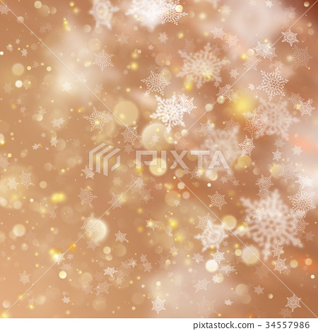 New year and Xmas Defocused Background With 34557986