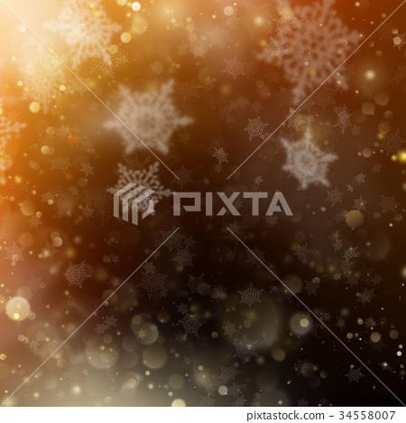 Christmas golden holiday glowing backdrop. EPS 10 34558007