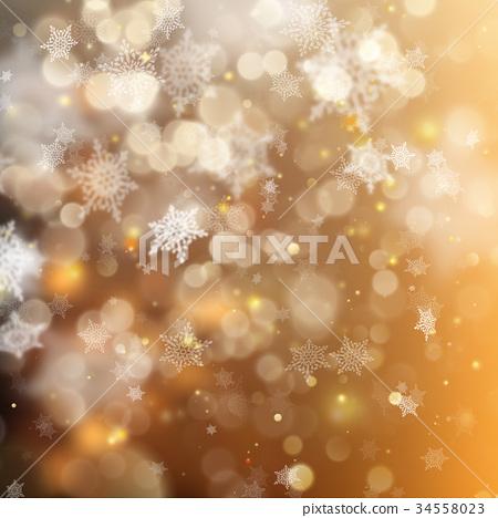 Christmas golden holiday glowing backdrop. EPS 10 34558023