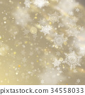 New year and Xmas Defocused Background With 34558033
