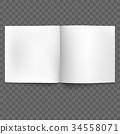 Blank open magazine isolated. EPS 10 vector 34558071