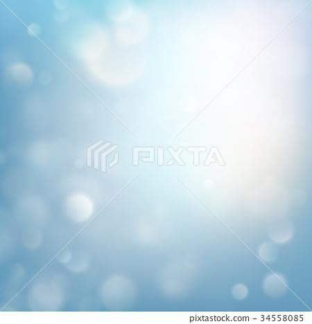 Winter xmas Christmas theme. Blue glitter bokeh 34558085