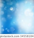 bokeh, Christmas, blue 34558104