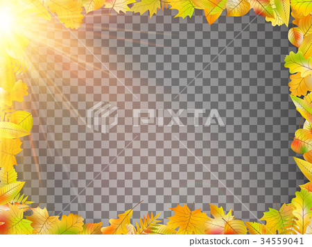 Autumn concept template with copy space. EPS 10 34559041