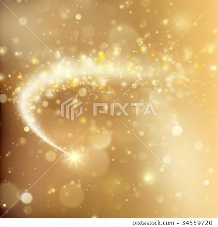 Glittering bokeh star dust template. EPS 10 vector 34559720