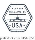 郵票 美國 歡迎 34560051