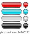 button, oval, round 34560282