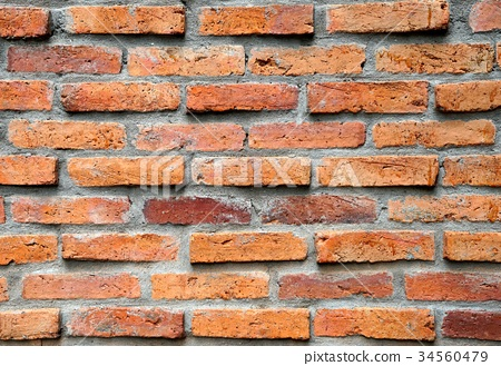 Old red brick wall texture for background 34560479