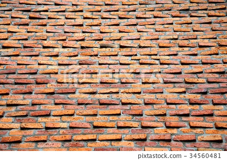 Red brick wall texture for background 34560481