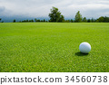 골프 공 퍼팅 그린 34560738