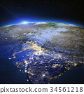 India and Tibet city lights 3d rendering 34561218