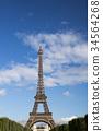 에펠 탑 푸른 하늘 La Tour Eiffel 34564268