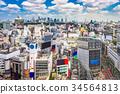 Shibuya, Tokyo, Japan aerial skyline. 34564813