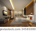 abstract sketch design of interior bedroom 34565090