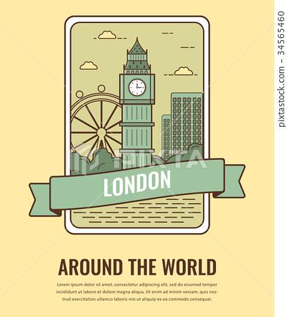 World landmarks. United Kingdom. Travel and 34565460