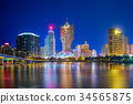 landscape of macau, china 34565875
