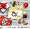 Christmas design on wood 34569698