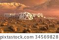 Mars planet satellite station orbit base martian 34569828