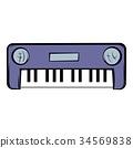 cartoon, piano, synthesizer 34569838
