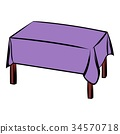 Table with tablecloth icon cartoon 34570718