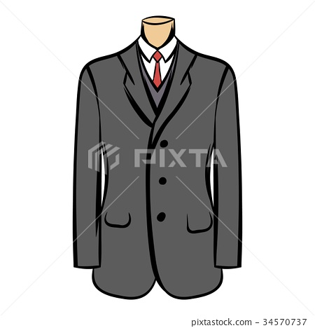 Wedding jacket comic icon 34570737