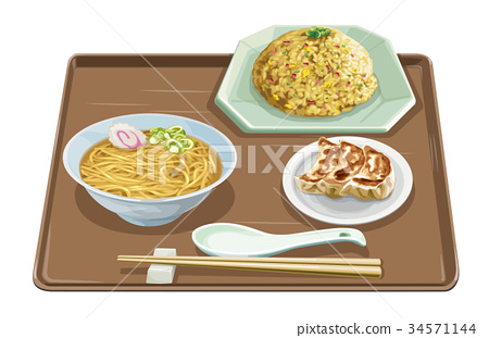 fried rice, dumpling, pelmeny 34571144