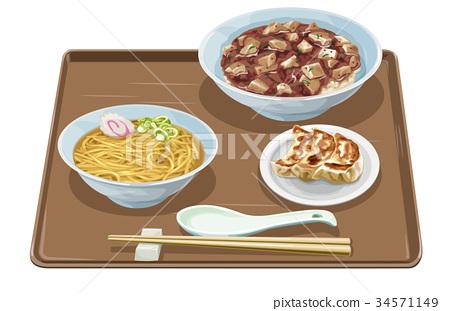 mabo-don, dumpling, pelmeny 34571149