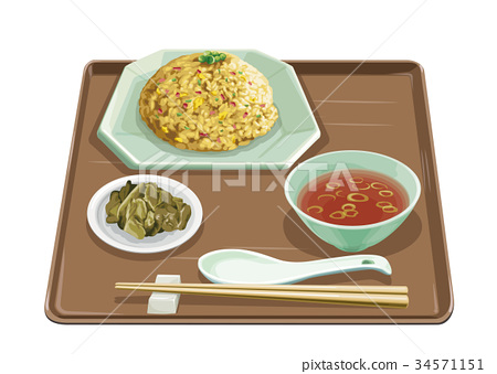 set meal, daily special, fried rice 34571151