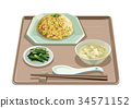 set meal, daily special, fried rice 34571152