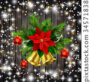 Christmas decoration evergreen trees and bells 34571838