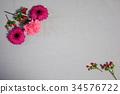 녹색, 잎, 꽃 34576722