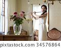 吹長笛的婦女 34576864