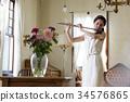 吹長笛的婦女 34576865
