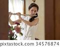 吹長笛的婦女 34576874