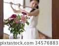 吹長笛的婦女 34576883