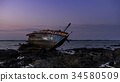 shipwreck abandoned sunset 34580509