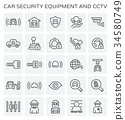 car security icon 34580749