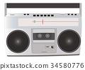 矢量 盒式磁帶 音樂 34580776