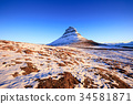 Kirkjufell mountain at sunrise, Iceland 34581871