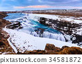Gullfoss waterfall in Winter, Iceland 34581872