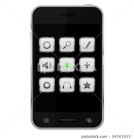 Mobile phone with main control buttons 34581933