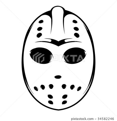 Hockey mask icon, icon cartoon 34582246